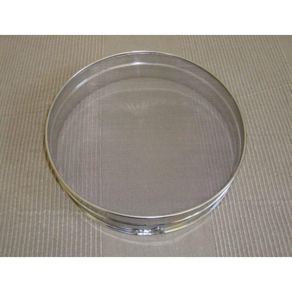 Rozsdamentes lisztszita, átmérő 30 cm