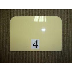 Habkártya, téglalap alakú