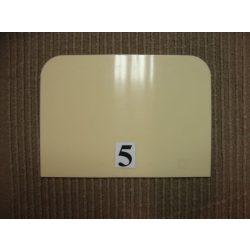 Habkártya, téglalap alakú, nagy