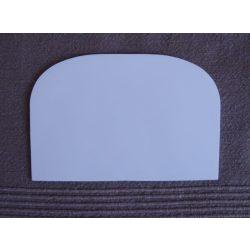 Habkártya, félkör alakú, hajlékony