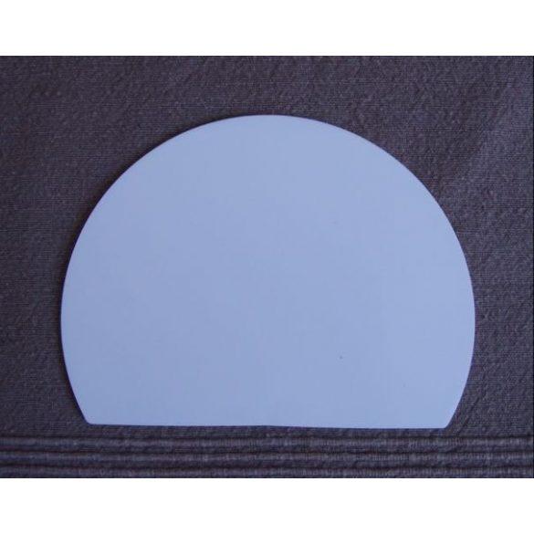 Habkártya, félkör alakú, hajlékony nagy
