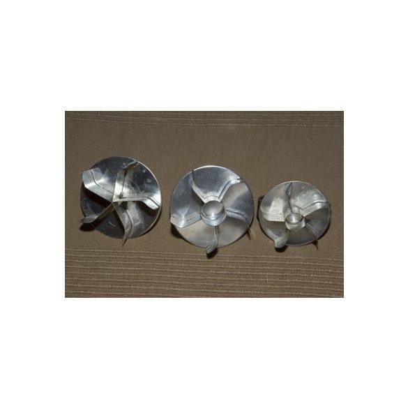 Császárzsemle mintázó, fém, átm: 8 cm