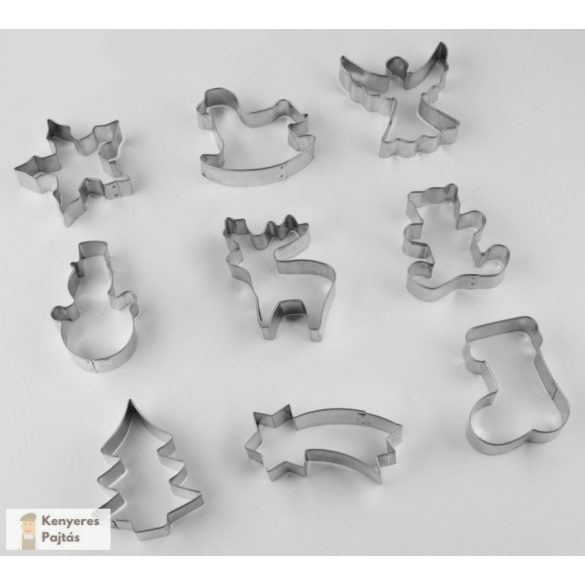 ZENKER süteménykiszúró bádog forma készlet (9 db)