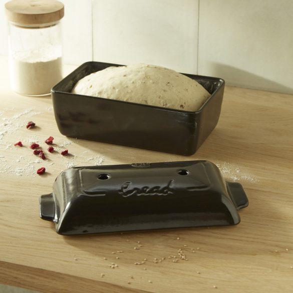 Emile Henry kenyérsütő edény 28x15x12 cm / 1,8 L, Charcoal