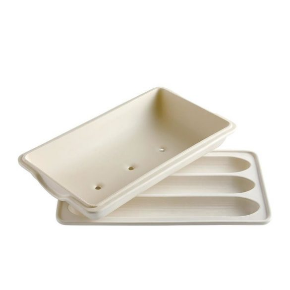 Emile Henry bagett sütőforma 39,5 x 23 cm/ 3,7 l