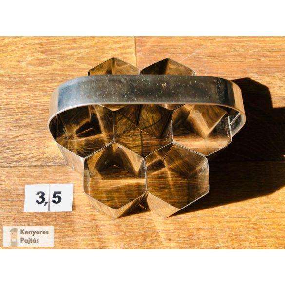 Csoportos pogácsaszaggató, 7 db-os, 3,5 cm-es oldal