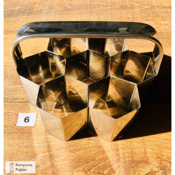 Csoportos pogácsaszaggató, 7 db-os, 6 cm-es oldal