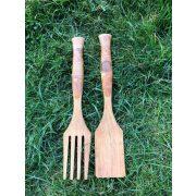 Kézműves grill szett fából